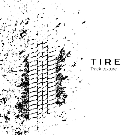 Tire track impression. Vector illustration isolated on white background