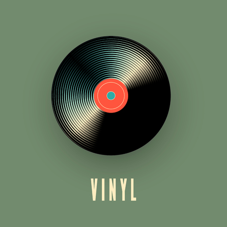 Vinyl music record. Vector illustration