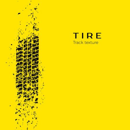 Grunge tire track design