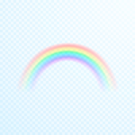 Transparent Colorful Rainbow Icon. Abstract rainbow image. Vector illustration isolated on transparent background