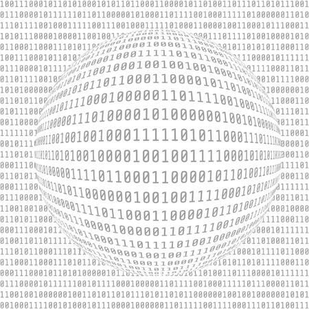Binary Computer Code. Digital Data. Abstract Matrix Background.  Hacker concept. Vector Illustration