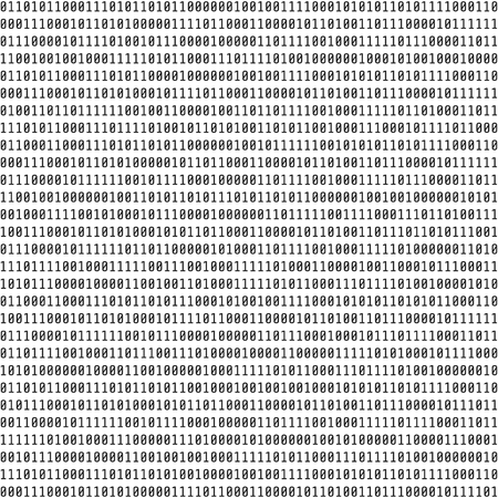 Binary code. Visual representation of binary data. big data concept. Vector illustration isolated on white background Illustration