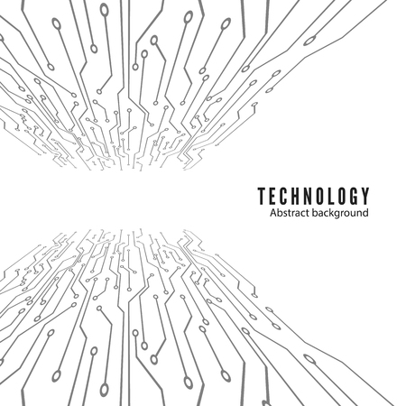 Electronic circuit board. Abstract technology background. Vector illustration