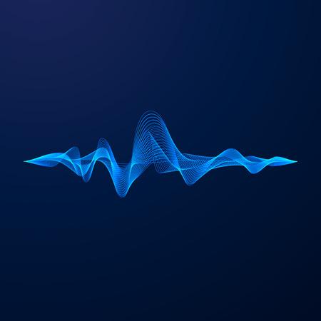 Equalizer vizualisation. Sound wave energy. Vector illustration