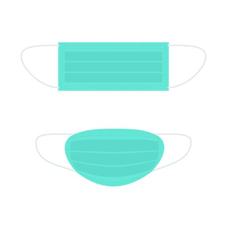 maschera medica dei cartoni animati. Illustrazione vettoriale isolato su bianco Vettoriali