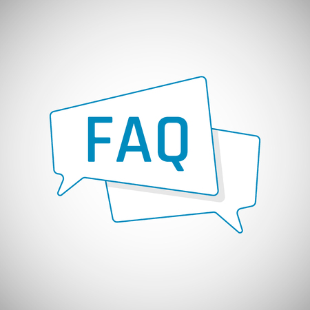 FAQ icon. Frequently Asked Question as Blue Speech bubble. Element of web icon for mobile concept and web apps. Vector illustration