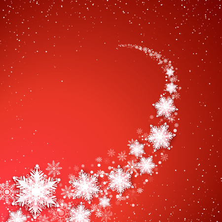 Blizzard de vacances. Fond de Noël et du nouvel an. Sentier des flocons de neige. Illustration vectorielle Vecteurs