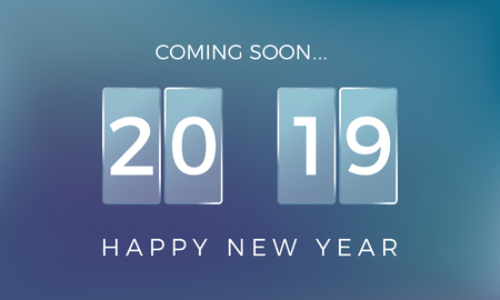Countdown to the New Year. Happy New Year 2019. Vector illustration