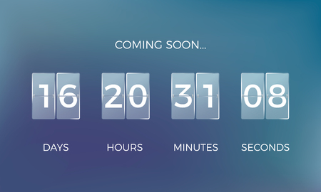 Countdown clock. Coming soon time remaining count down. Vector illustration