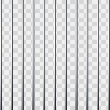 Prison grid. Metal cage. Vector illustration isolated on transparent background