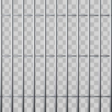 Prison grid. Metallic cage isolated on transparent background. Vector illustration Illustration