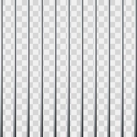 Cuadrícula de prisión. Jaula de metal. Ilustración de vector aislado sobre fondo transparente