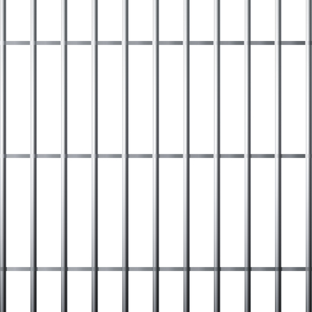 Silhouette of prison grid. Metallic cage isolated on white background. Vector illustration
