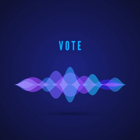 Display of sound frequency. Digital vote interface for app. Design of music pulse. Vector illustration