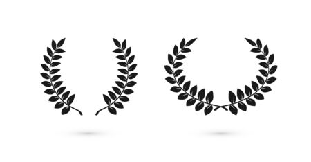 Laurel wreaths icons for web design. Award sign. Vector illustration