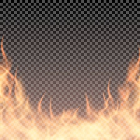 Fire wall. Burning border template for banner or you illustration. Vector Ilustrace