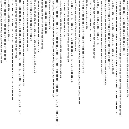 Binary coding. Computer digital information. Encryption and machine algorithms. Vector illustration isolated on white background