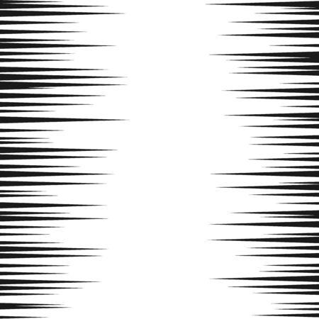 Comic speed lines background. Manga speed frame. Cartoon motion background. Superhero action. Vector illustration isolated on white background Ilustrace
