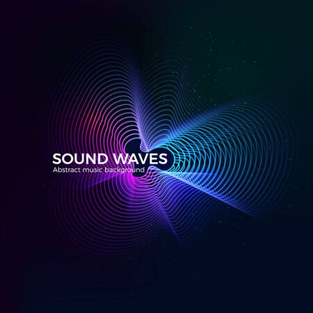 Dynamic radial sound equalizer design. Music album cover template. Abstract circular digital data form. Vector illustration