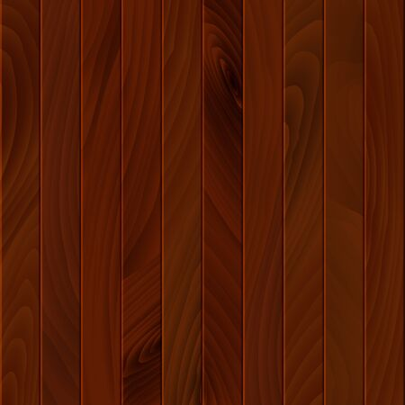 Brown wooden texture. Wood surface of floor or wall. Timber background or wallpaper. Vector illustration