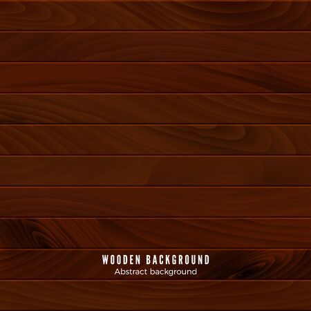 Brown wooden texture. Wood surface of floor or wall. Timber background. Vector illustration