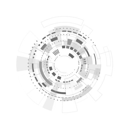 Fondo digital abstracto. Fondo de pantalla de tecnología empresarial. Telón de fondo del ciberespacio de ciencia ficción. Concepto de innovación futura. Ilustración vectorial