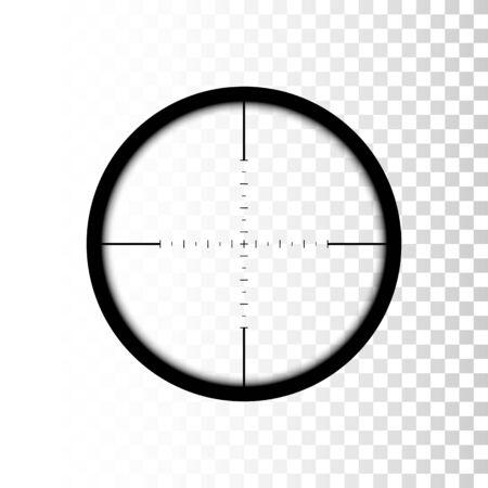 Sniper scope. focus on target through sniper scope. Vector Vektorgrafik