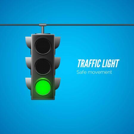 Traffic light. Traffic Laws. Vector illustration  Ilustração
