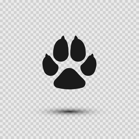 Pets paw. Dog footprint flat icon. Vector illustration