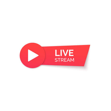 Live stream red icon. Online streaming Banner. Vector illustration