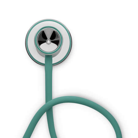 Stethoscope 3d illustration. Medical tool to diagnostic and treatment illness. Vector Ilustrace