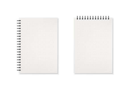 Notebook. Horizontal and vertical template of diary. Vector illustration