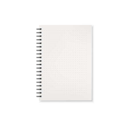 Notebook. Template of office notepad with white pages. Vector illustration