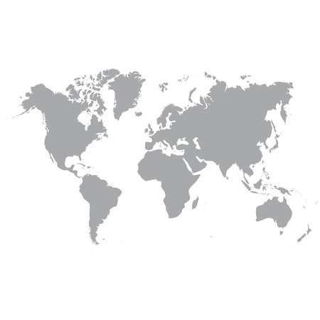 Blue similar world map world map blank world map vector royalty clear grey map of the world isolated on background blank map for web design gumiabroncs Choice Image