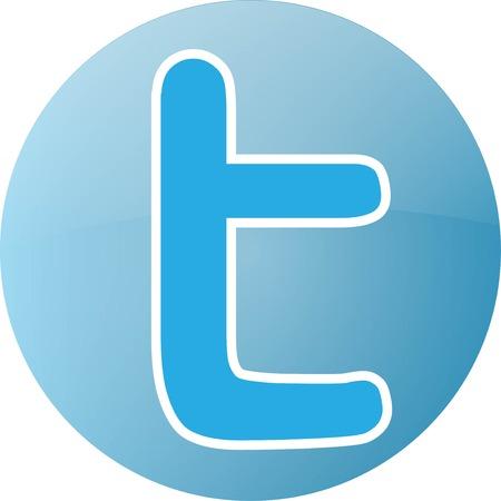 Letter T Logo Flat Style. social media icon Vector Stock Vector - 44608935