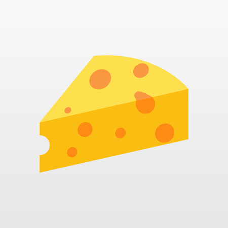 Color Cheese icon isolated on background. Modern flat pictogram, business, marketing, internet concept. Trendy Simple vector symbol for web site design or button to mobile app.