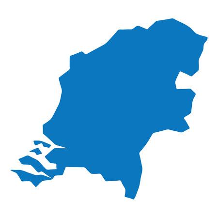 netherlands map: Blue similar Netherlands map. blank template for your design, infographics. Clean vector illustration Illustration