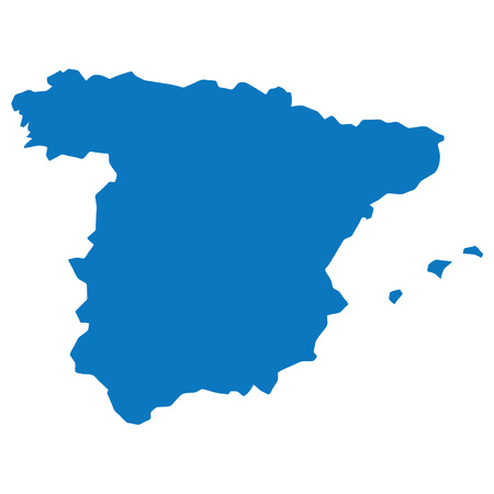 similar: Blank Blue similar Spain map isolated on white background. Vector template for infographics. Graph illustration.