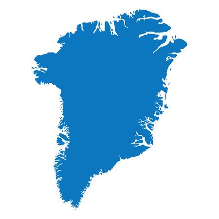 De lege Blauwe gelijkaardige die kaart van Groenland op witte achtergrond wordt geïsoleerd. Land Vector sjabloon voor website, ontwerp, dekking, infographics. Grafiek illustratie. Stock Illustratie