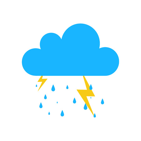 storm rain: Blue Storm rain icon isolated on background. Modern simple flat sign. Business, internet weather concept. Trendy Simple vector symbol for web site design or button to mobile app. illustration