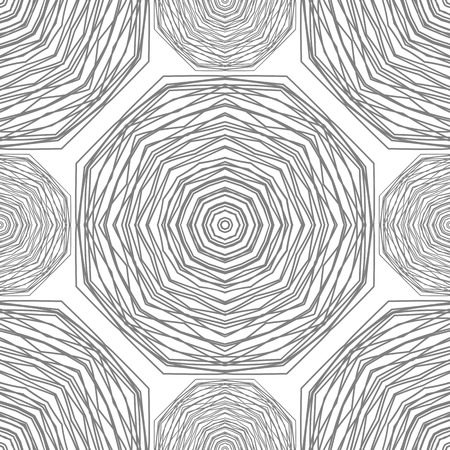 Seamless pattern. Circular stylish background. Vector repeating texture