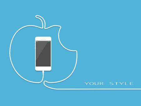 Weiß Telefon Im Stil Geschenk Auflädt. Überraschung Smartphone Mit ...