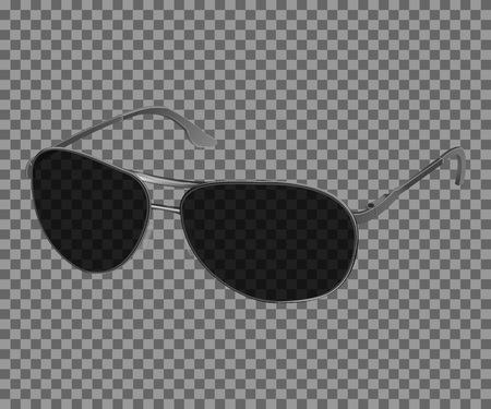 black eye: Vector trendy realistic black eye glasses, Modern sunglasses isolated on transparent background. Illustration Template for your design.