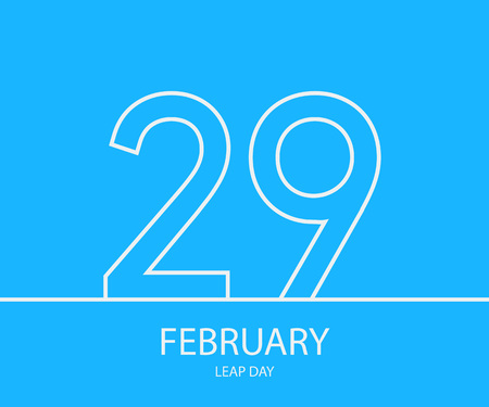 29: 29 February outline background. . Vector illustration.