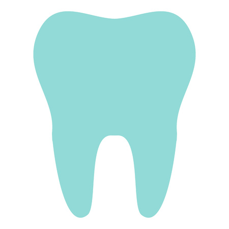 Tooth icon isolated on background. Modern flat pictogram, business, marketing, internet concept. Trendy Simple vector symbol for web site design or button to mobile app. illustration