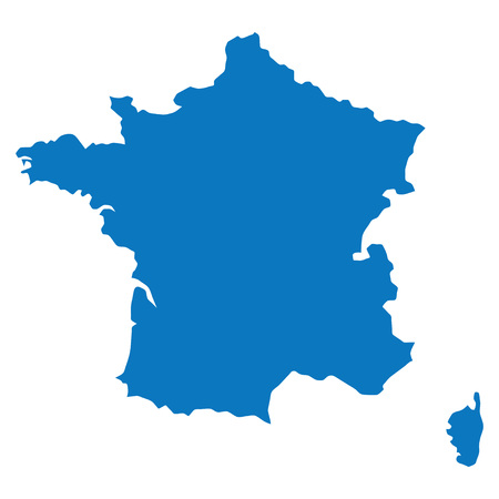 similar: Blank Blue similar France map isolated on white background. European country. Vector template for website, design, cover, infographics. Graph illustration. Illustration