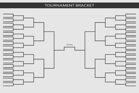 soccer, baseball Tournament Bracket for your design. Champion ship template, trendy style. Vector illustration. Illustration