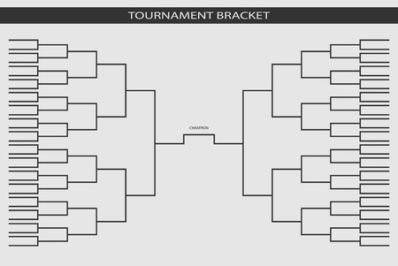 soccer, baseball Tournament Bracket for your design. Champion ship template, trendy style. Vector illustration. 矢量图像