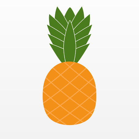 ripened: Ananas Pineapple icon isolated on background. Modern flat pictogram, business, marketing, internet concept. Trendy Simple vector symbol for web site design or button to mobile app. illustration Illustration