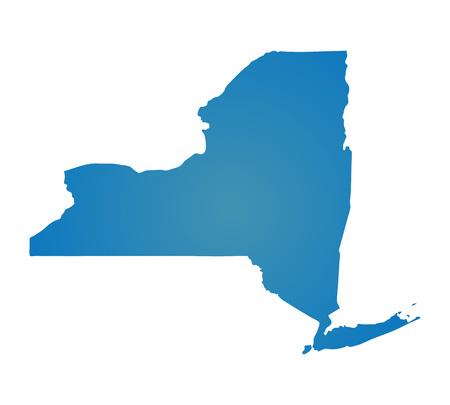 Blank Blue soortgelijke New York map op een witte achtergrond. Staat van de Verenigde Staten. Vector sjabloon voor website, ontwerp, dekking, infographics. Graph illustratie.